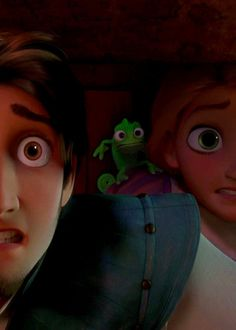 Tangled.. hiding behind the counter from the palace guards inside 'The Snugly Duckling'!!!!!! That's right, I know my #Tangled!!!