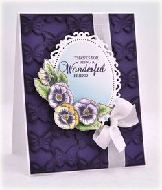 JustRite Papercraft Pansies in Spring Cling Stamps   JustRite Papercraft Inspiration Blog