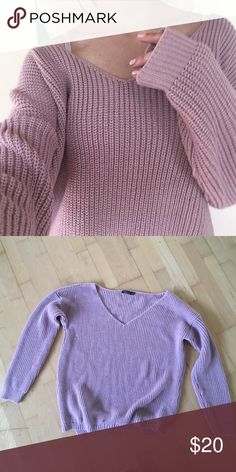 chunky sweater pink, oversized, size medium. UNABLE TO SHIP UNTIL MAY 24TH! Boohoo Sweaters V-Necks