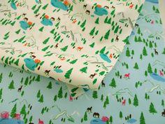 ▲綿(コットン) - 商品詳細 オックスプリント Lake Forest 110cm巾/生地の専門店 布もよう
