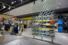 Sports Store | Retail Design | Shop Interior | Sports Display | Dalziel and Pow - Work - The Locker Room