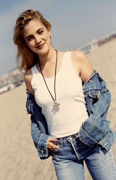Channel a young Drew Barrymore looking fabulous.