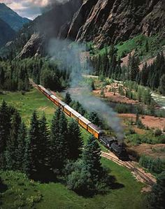Silverton-Ouray Narrow-gaiged train - if you've never experienced it....it is a must!  Open train car give you the BEST view of the scenery. Amazing!!!