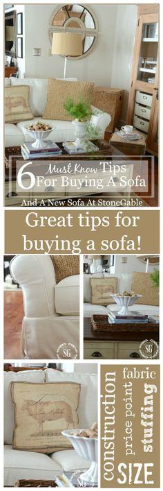 6 MUST KNOW TIPS FOR BUYING A SOFA An easy guide to buying the best sofa for you. Read this before you even think about buying a new sofa!!!!