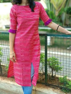 Kurti neck designs with new trend style ArtsyCraftsyDad Kurta Neck Design, Churidar Neck Designs, Salwar Designs, Kurti Designs Party Wear, Kurti Sleeves Design, Sleeves Designs For Dresses, Dress Neck Designs, Blouse Designs, Sleeve Designs For Kurtis