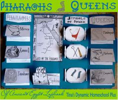 Pharaoh and Queens of Ancient Egypt Lapbook Ancient Civilizations
