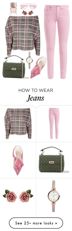 """""""Untitled #2610"""" by ebramos on Polyvore featuring Johanna Ortiz, Acne Studios, Burberry, Oliver Peoples, Valentino, FOSSIL and Dolce&Gabbana"""