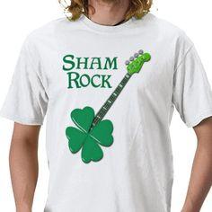 sham rock guitar tshirt