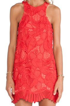 Lovers + Friends Lovers + Friends Caspian Shift Dress in Coral | REVOLVE