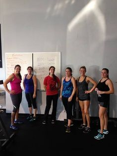 The 9:00am ladies posing after the workout!!!