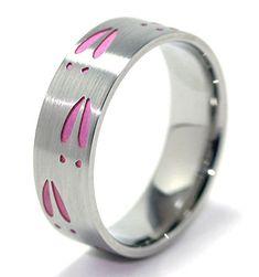 Pink Deer Track Ring