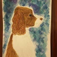 Rhythm, the springer spaniel, in watercolor :)