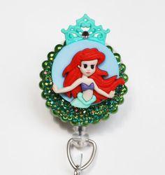 Ariel The Little Mermaid ID Badge Reel by ZipperedHeart on Etsy