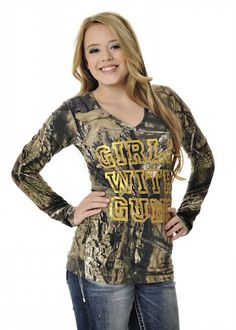 05b2b978dacf11 Girls With Guns Clothing Stone Tee - Mossy Oak Break Up Country® Camo Gear
