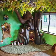 The best dad ever build an enchanted tree reading nook for his daughter — and we want one of our own! — learn more, link in profile (: Rob Adams) #kidsbedroom #homedecor