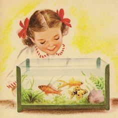 Vintage Children's Books, Vintage Art, One Fish Two Fish, Fish Fish, Pretty Fish, Koi Art, Tropical Fish, Art Forms, Animals And Pets