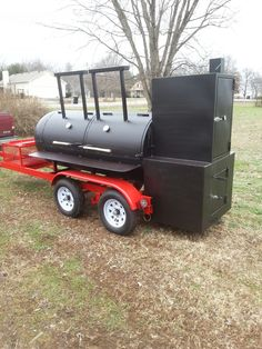 TS-500 with insulated firebox and warming tower #Smoker #bbq #trailer Smoking Cooking, Smoking Meat, Propane Smokers, Meat Smokers, Custom Smokers, Bbq Smoker Trailer, Custom Bbq Pits, Barbecue Pit, Homemade Smoker