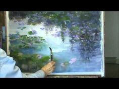 """""""Summer Pond"""" Part 1 - Acrylic Country Pond Painting Demo - YouTube"""