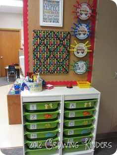 classroom command center {LOVE the small bulletin board to post notes}