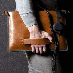 Hard Graft Grab Leather MacBook Folio