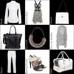 Schwarz zu Weiß, clean und doch aufregend  #prada #patriziapepe  #chanel #versace #MyMint   #marni  #bottegaveneta #parosh #dolcegabbana