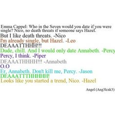 "At first I read it as ""Er, Annabeth, don't kill me. Percy"" and was like how bromatic and beautiful."