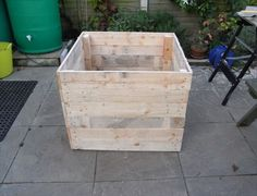 Compost Bin made of Upcycled Wood Pallets