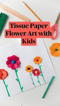 Paper Crafts For Kids, Arts And Crafts Projects, Projects For Kids, Diy For Kids, Paper Flower Art, Paper Flowers, Summer Crafts, Summer Fun, Kids Origami