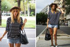 Vintage Hat, Romwe Shirt, Levi's Shorts, H&M Flats