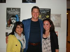 """Congrats to our very first Pinterest Grand Prize winner Camille Ring @camirang! She won tix to the opening night of """"La Cage aux Folles"""" and then met Christopher Sieber backstage. (L-R, Steph Marron, Christopher Sieber, Camille Ring)."""