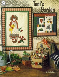 1995 Pattern Booklet Toni's Garden Applique Wall Hangings By Leslie Beck #4 #DarrowProductionCo