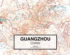 Guangzhou - China. Download CAD Map city in dwg ready to use in Autocad. www.mapacad.com