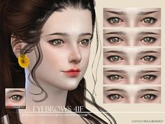 Sims 4 CC's - The Best: Eyebrows by S-Club