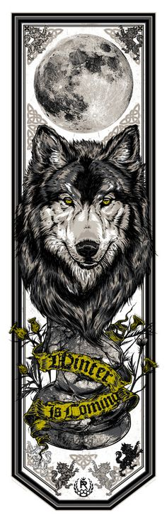 "Tattoo inspiration... Game of Thrones: House Stark Banner (""Winter is Coming"") by Studio Seppuku."