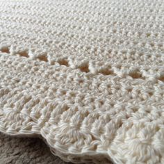 Traditional crochet baby blanket. There is no pattern with this pic.