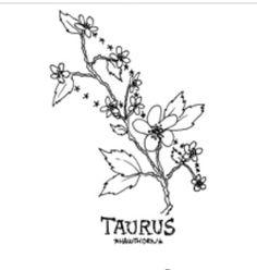 'Floral Constellation – Taurus' Poster by zoazig, – pisces constellation tattoo Aquarius Constellation Tattoo, Constellation Piercings, Coffee Cup Tattoo, Birth Flower Tattoos, Birth Flowers, Picture Tattoos, Constellations, Ink, Poster