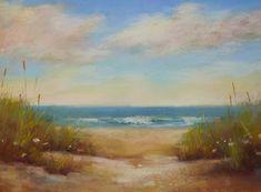 Serene Beach Dune SEASCAPE 18x24 Karen Margulis Florida Art pastel