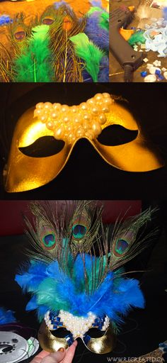 A luxe feather and pearl mask DIY   (Make it for High Stakes for Habitat 2014: www.habitatgsf.org/highstakes)