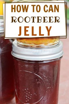 Recipe for canning rootbeer jelly. One of my favorite jelly canning recipes for beginning canners.