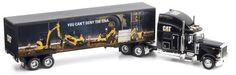 """Norscot Cat """"Reflections"""" Mural Truck 1:50 scale by Norscot. $53.00. From the Manufacturer                Die-cast metal scale model replica. Authentic design grille, air cleaner, visor, mirrors, tanks and other exterior details. Removable trailer with opening rear door. Working landing gear. Polished wheels and hubs. Realistic tire tread design.                                    Product Description                With features such as heavy die-cast construction, movable tr..."""
