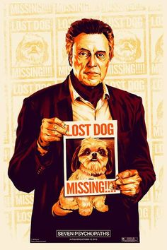 movie:  7 Psychopaths *7 Psicopatici Teaser Poster USA 02