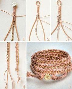 DIY 5 strand braid tutorial of design and shape here. - DIY 5 strand braid tutorial of design and shape here. Diy Jewelry Unique, Diy Jewelry To Sell, Diy Jewelry Tutorials, Diy Bracelets Easy, Bracelet Crafts, Jewelry Crafts, Jewelry Knots, Beaded Jewelry, Hemp Jewelry