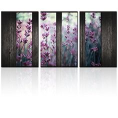 Multi Panel Canvas Art,Purple Lavender Print on Canvas,Floral Canvas Print,Framed Decoration for  Decorating with multi panel wall art is easy, fun and makes your home super trendy and cute.  Furthermore combine multi panel wall art with other canvas art to create a modern wall art vibe in your home.  My favorite rooms to use large multi-panel wall art are rooms like the living room or even a Master bedroom.  Use small pieces of multi panels wall art in smaller spaces such as bathrooms or…