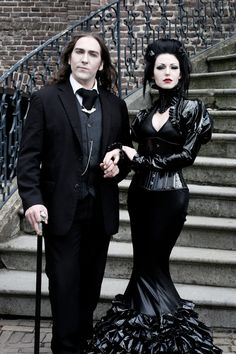 Vampire lovers 2 by Dr-Whom.deviantart.com on @deviantART | For more goth fashion, follow http://www.pinterest.com/thevioletvixen/goth-girl/