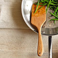 """Littledeer Pan Paddle (Williams-Sonoma) (available in right-handed or left-handed versions; 12"""" long; handcrafted from solid North American maple) (""""The all-purpose wooden tool is great for everything from scrambling eggs and stirring sautés to flipping grilled sandwiches and burgers."""")"""