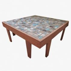 Mid Century Tiled Coffee Table, 1960s €350.00  http://www.pamono.eu/de-adelaar