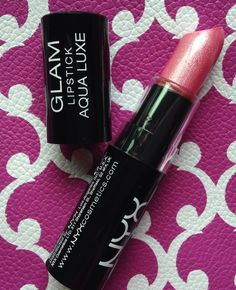NYX Glam Aqua Luxe Lipstick in Pink Jewel.  Swatched 1x.  $3