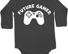 futue gamer funny video games  baby infant bodysuit color and size choice black white pink blue great shower gift new