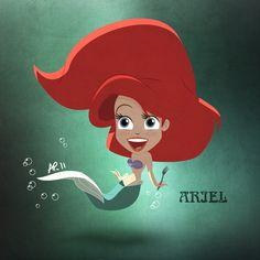Ariel Kawaii, Illustrator et Photoshop. - Suivez moi aussi sur ma page facebook Follow me on facebook fanpage too >>> merci !
