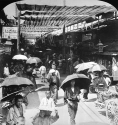 The covered shopping street Shijo-Dori (4th street) in Kyoto, 1905 ... yes, we are curios about Kawamura fine art ;)
